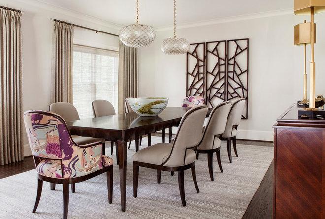 Transitional Dining Room by Tiffany McKinzie Interior Design