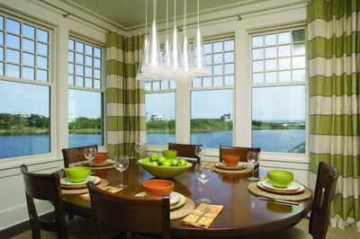 Eclectic Dining Room by Tracery Interiors