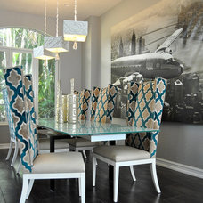 Contemporary Dining Room by Tran + Thomas Design Studio
