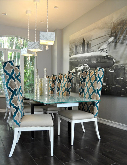 Contemporary Dining Room by Tran + Thomas Design Studio