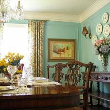 Traditional Dining Room by Tran + Thomas Design Studio