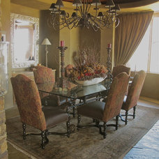 Mediterranean Dining Room by Tuscan Elements