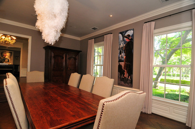 Traditional Dining Room by Valerie McCaskill Dickman