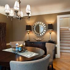 Contemporary Dining Room by Decorating Den Interiors Valerie Ruddy