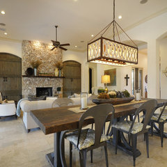 eclectic dining room by Van Wicklen Design