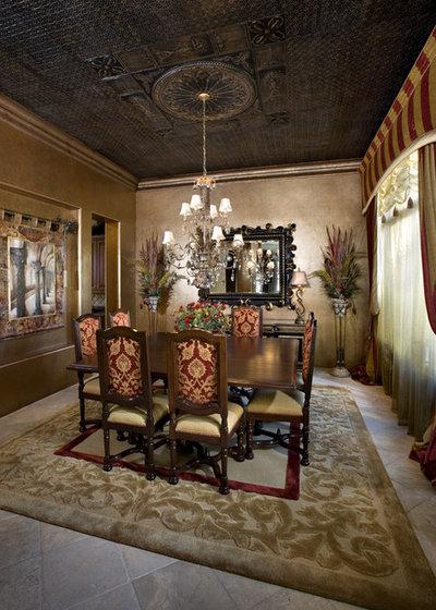Mediterranean Dining Room by VM Concept Interior Design Studio