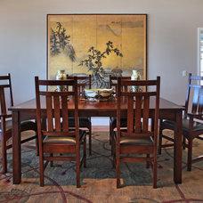 Eclectic Dining Room by von Hemert Interiors