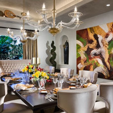 Eclectic Dining Room by W.A. Bentz Construction, Inc.