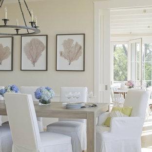 Coastal dining room photo in Providence