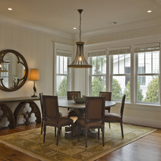 Rustic Dining Room by Wayne Windham Architect, P.A.