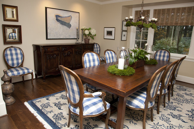 Traditional Dining Room by Whitney Lyons
