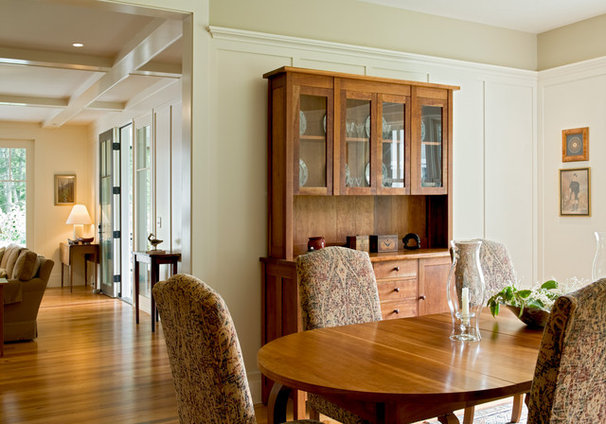 Farmhouse Dining Room by Whitten Architects