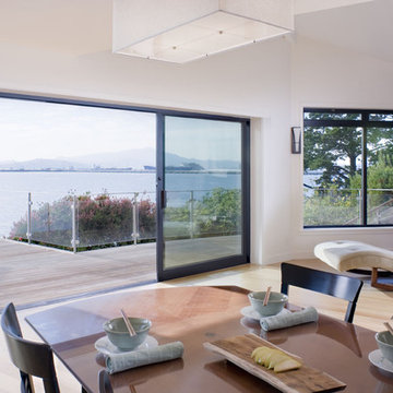 Dining room window out to deck