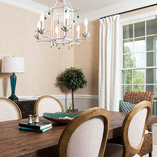 Transitional Dining Room by Your Favorite Room By Cathy Zaeske
