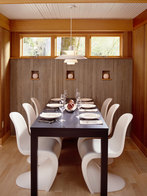 saveemail giulietti schouten architects 23 reviews dining room with board formed concrete walls - Dining Room Table With Bench Against Wall