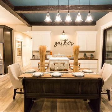 Dining Room with Coretec Luxury Vinyl Plank Flooring