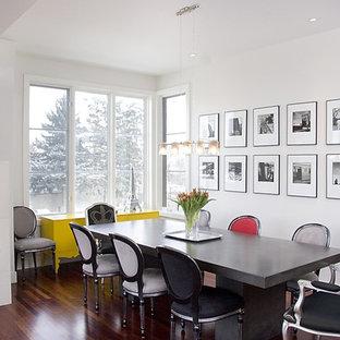 Bild på en funkis matplats, med en spiselkrans i trä och vita väggar