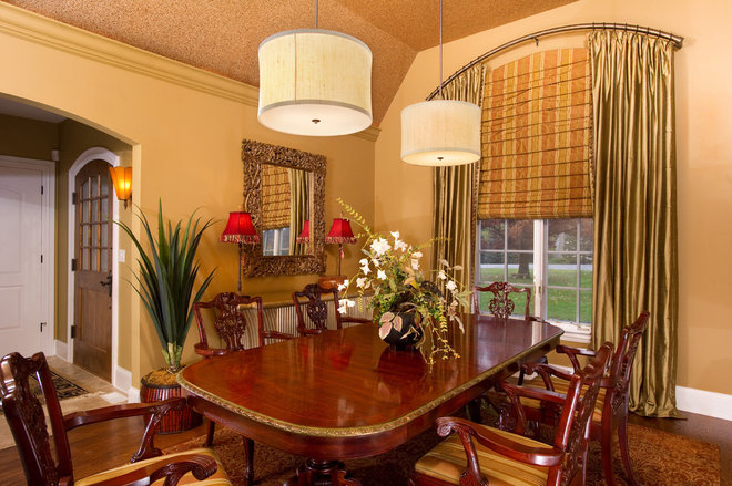 Eclectic Dining Room by Interior Enhancement Group, Inc.