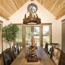 Rustic Dining Room by Suzanne Marie's Interiors, Suzanne Denning