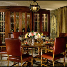 Rustic Dining Room by Saint Dizier Design