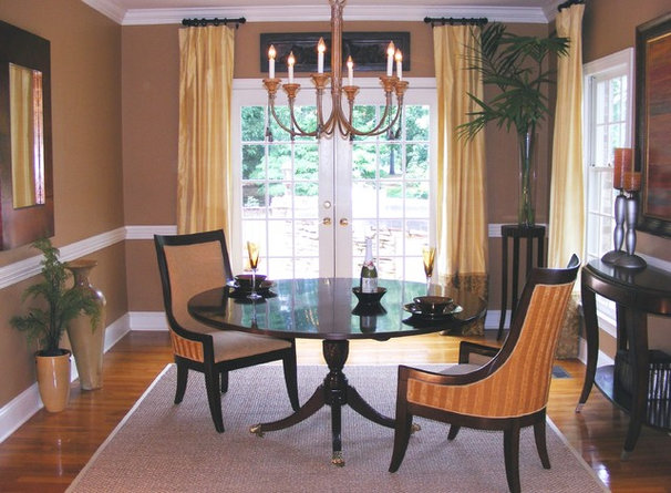 Transitional Dining Room by Transforming Rooms