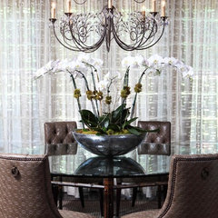 eclectic dining room by Wolfe Rizor Interiors