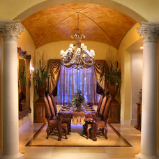 Mediterranean Dining Room by Yates Associates Architecture