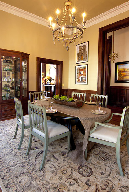 Eclectic Dining Room by Zimmerman Interiors