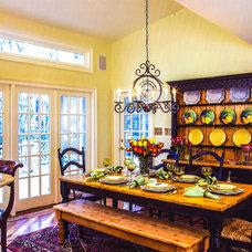 Farmhouse Dining Room by cg creative interiors