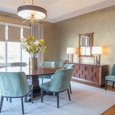 Transitional Dining Room by Lucy and Company