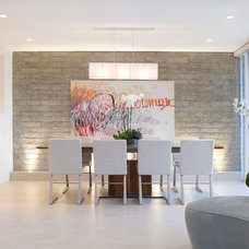 Contemporary Dining Room by Mark Nichols Modern Interiors