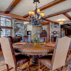 Rustic Dining Room by Michael Yearout Photography