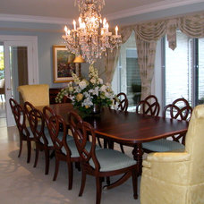Traditional Dining Room by NM Interiors