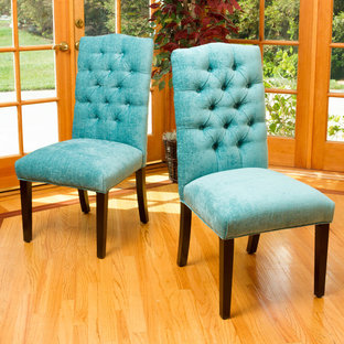 Dining Space featuring Eclectic Teal Green Dining Chairs