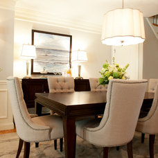 Transitional Dining Room by Interim Furnishings