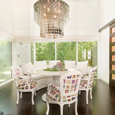 eclectic dining room by tuba yavuzer
