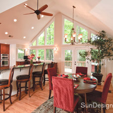 Contemporary Dining Room by Sun Design Remodeling Specialists, Inc.
