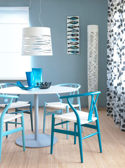 Modern Dining Room Dining table blue