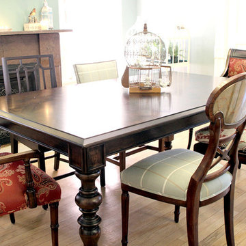 Dining Table with Mismatched Chairs