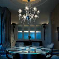 Modern Dining Room by Susan Newell Custom Home Builder, Inc.