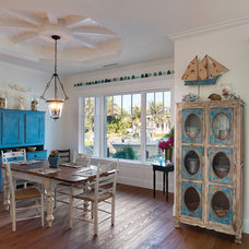 Eclectic Dining Room by Weber Design Group, Inc.