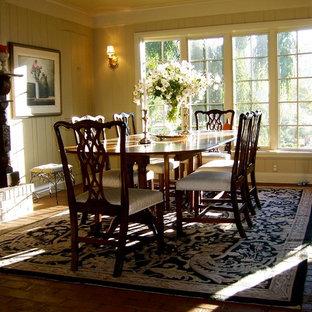 Elegant dining room photo in New York