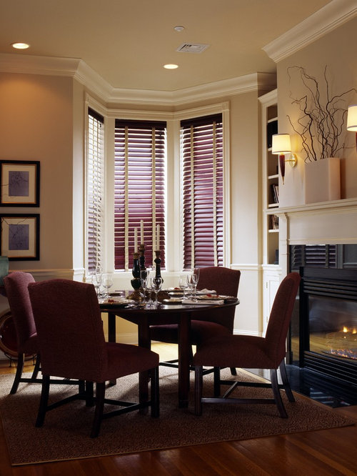 Inspiration For A Timeless Dining Room Remodel In San Francisco With Beige Walls Dark Wood