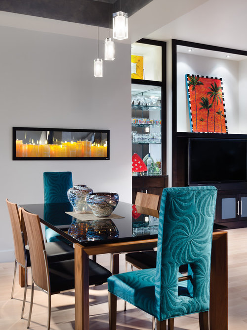 Turquoise dining chair ideas pictures remodel and decor for Dining room office ideas