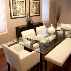 Contemporary Dining Room by micheal lambie interiors