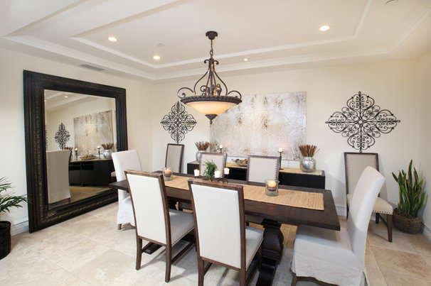 Traditional Dining Room by V.I.Photography & Design