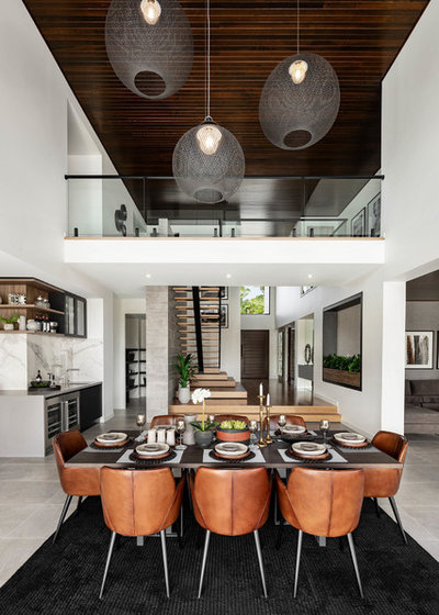 Contemporary Dining Room by Metricon