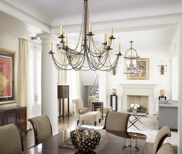 Traditional Dining Room by Mark Hickman Homes