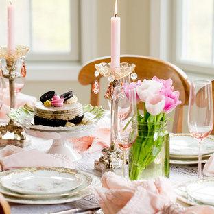 Ispirazione per una sala da pranzo shabby-chic style