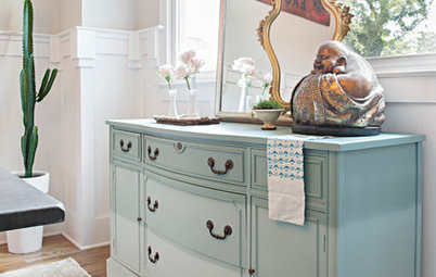 DIY Project: Ombre Sideboard for an Eclectic Dining Room